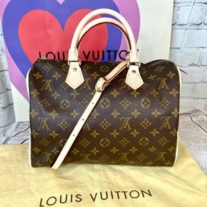 Louis Vuitton Speedy 30 new LEATHER REPLACED